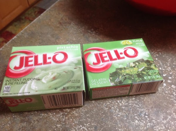 Preheat oven to 350 degrees F. oven. I used a name brand Jello and...