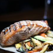 Yuzu Beurre Blanc Grilled Salmon