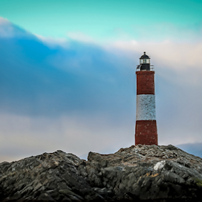 Les Eclaireurs Lighthouse by Edi Libedinsky - Buildings & Architecture Other Exteriors ( southern, lighthouse, argentina, ocean, patagonia, sea,  )