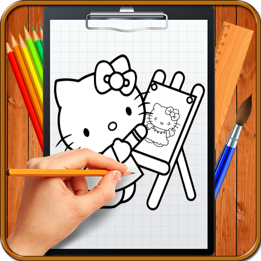 Learn How to Draw Cute Kitty Cat Characters icon