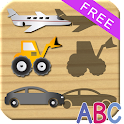 Wheels Puzzles For Kids - ABC icon
