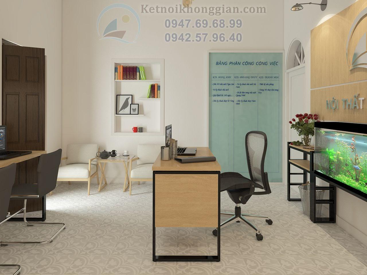 thiết kế văn phòng công ty sáng tạo và ấn tượng