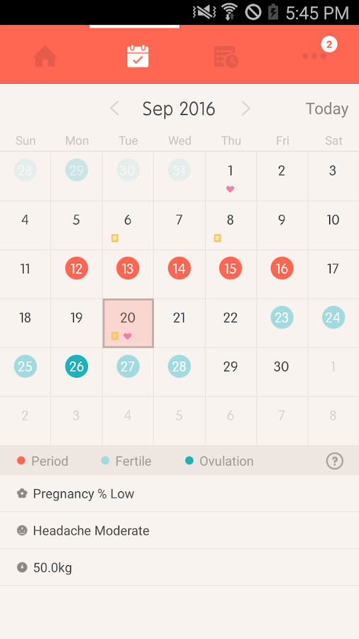 Once -A special period tracker- screenshot