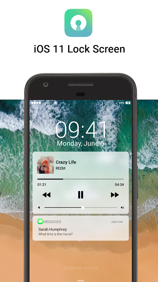 Lock Screen IOS 11 new style APK Cracked Free Download