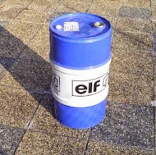 Photo: J'ai utilisé un bidon d'huile de 60 l.  prévoir un nettoyage à l'essence et bien sécher.