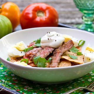 Chilaquiles Recipe with Marinated Skirt Steak
