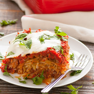 Easy & Healthy Cabbage Rolls Casserole.