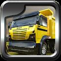 Heavy dump truck 3D parking icon