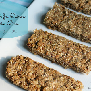 Raw Coffee Quinoa Protein Bars