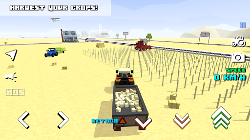 Blocky Farm Racing & Simulator - free driving game screenshots 11