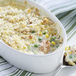 Salmon and Corn Casserole.