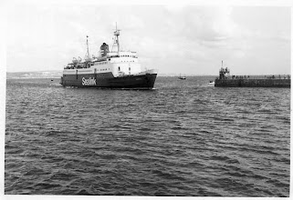 """Photo: """"Sarnia"""" at Weymouth August 30, 1975  (Photo: A.M.S. Russell)"""