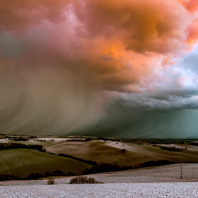 Storm at the sunset by Mauro Fini - Landscapes Sunsets & Sunrises