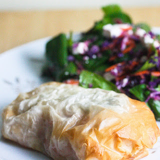 Baked Salmon in Phyllo with Tomato-Ginger Filling