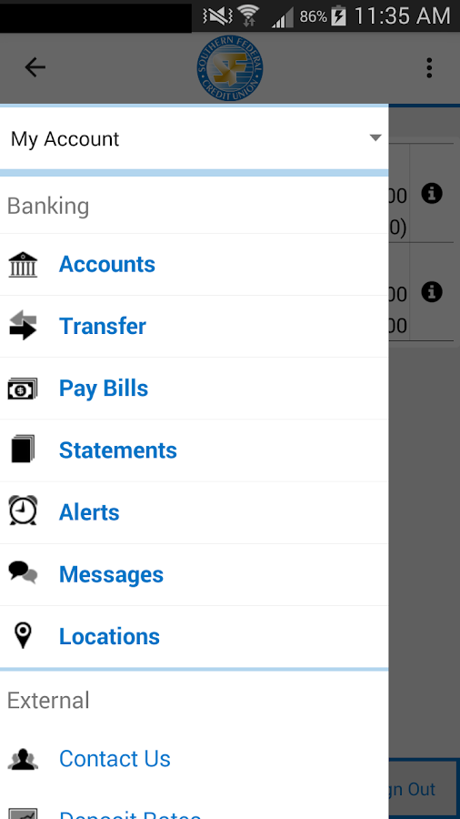Southern FCU Mobile- screenshot