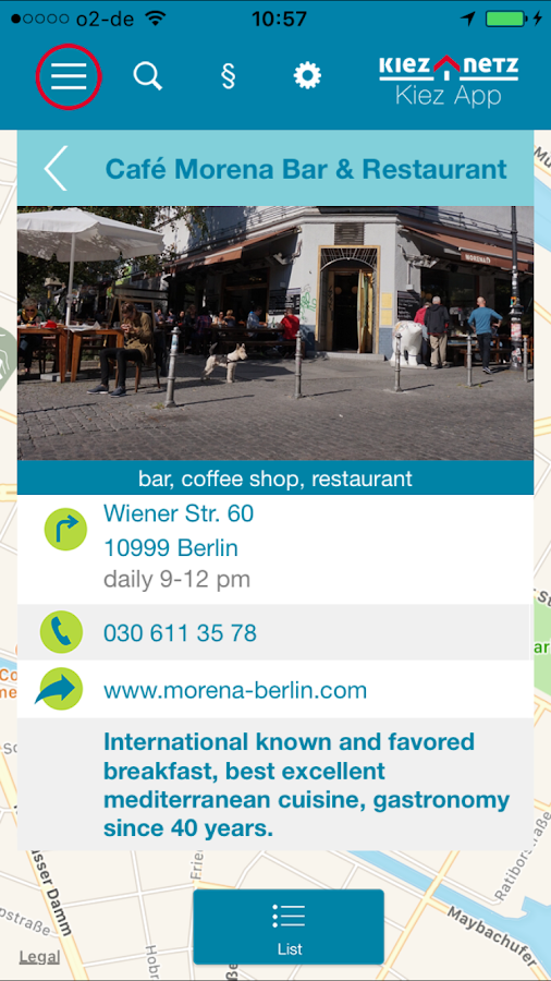 Berlin Kiez App- screenshot