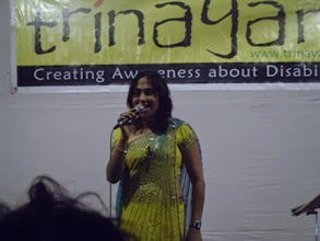 Photo: Ritika performing at theFirst Annual Celebration of our Sparsh Foot Spa