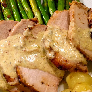 Mustard & Tarragon Crusted Pork Loin