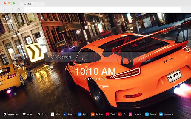 Porsche 911 Top HD Cars New Tabs Themes