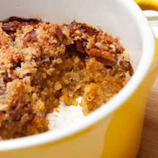 Pumpkin Pie Quinoa Breakfast Casserole.