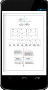 Maths Angle & Trigonometric Ratio Formula Book - náhled