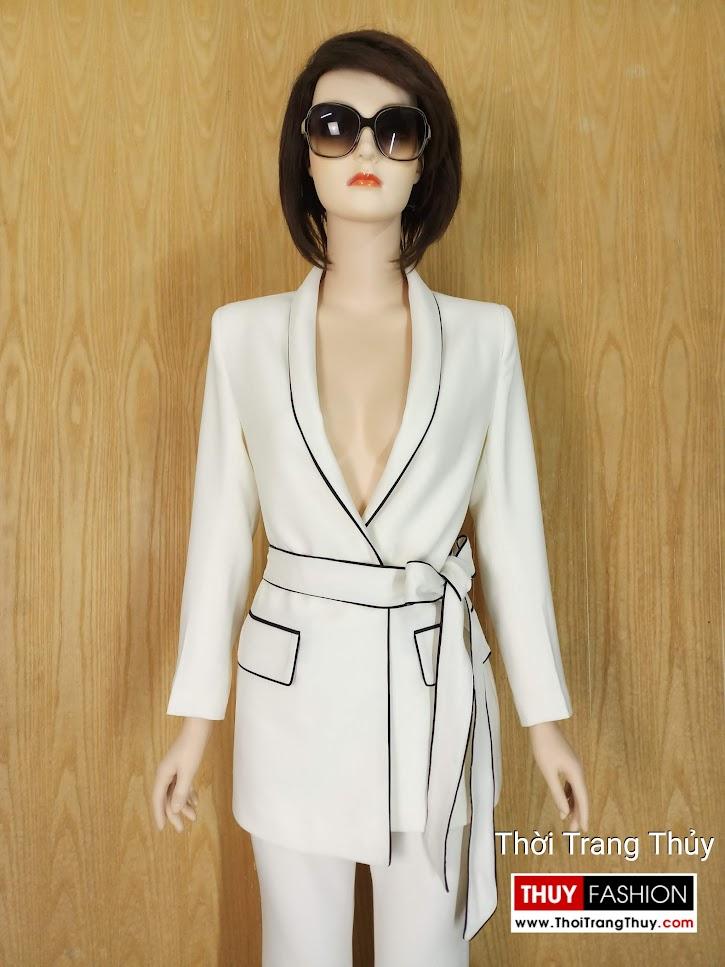 Áo blazer nữ đen trắng V662 thời trang thủy