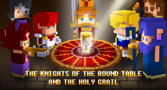 ApkMod1.Com Cube Knight: Battle of Camelot + (Mod Money) for Android Casual Game