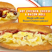 Hot Chicken, Cheese & Bacon Roll