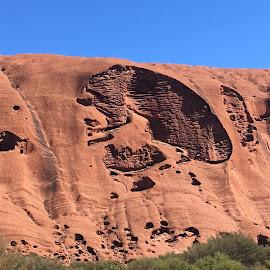 The Brain, Uluru by Dawn Simpson - Landscapes Mountains & Hills ( uluru, nature, iconic, brain, weathered )