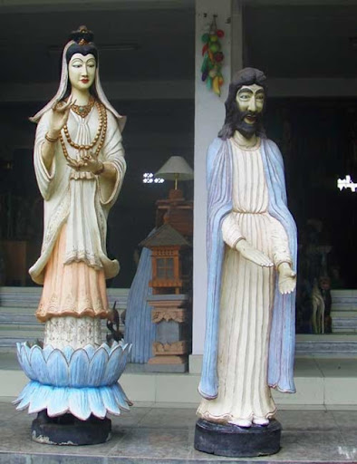 Jesus and (?) Mary in Ubud art shop
