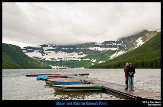 Photo: Waterton National Park: Cameron Lake.