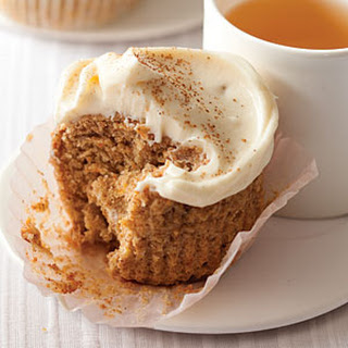 Whole-Wheat Banana-Carrot Cupcakes.