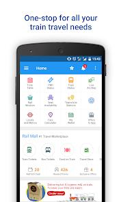 Apl Live Train Status, PNR Status & Indian Rail Info (APK) percuma muat turun untuk Android/PC/Windows screenshot