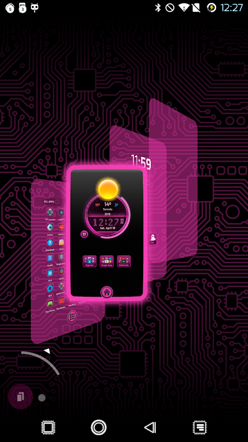 PCB Pink ⁞ TSF Shell 3 Theme- screenshot