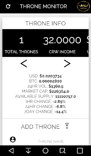 CRW Throne Monitor- screenshot thumbnail