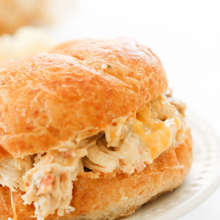Slow Cooker Chicken Bacon Ranch Sandwiches.