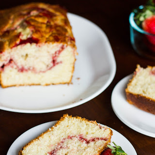 Strawberry Swirl Pound Cake.