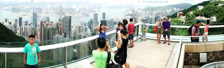 """Photo: Observation platform """"The Peak"""" Hong Kong."""