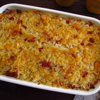 Cod With Chorizo And Rice In The Oven.