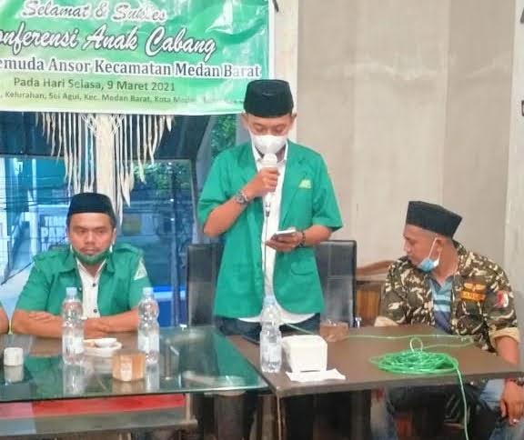 Muhammad Alfarezi Lubis Secara Aklamasi Terpilih Jadi Ketua PAC Gerakan Pemuda Ansor Medan Barat