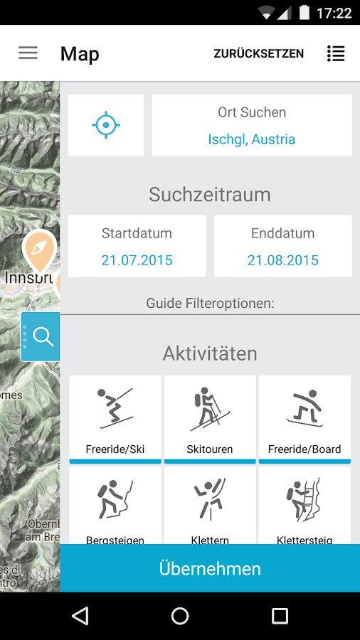 Guidefinder – Screenshot