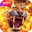Fire Tiger Live Wallpaper Themes icon