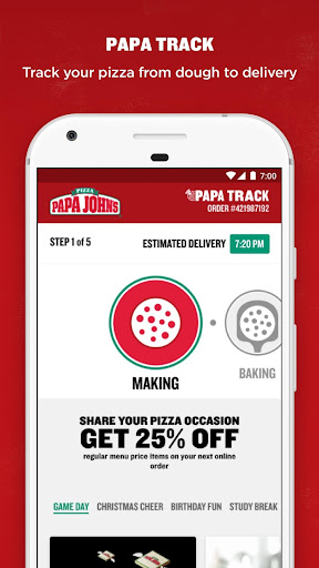Screenshot for Papa John's Pizza in United States Play Store