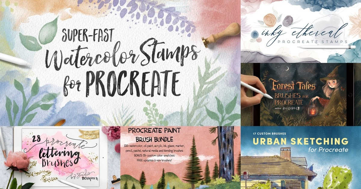Our Favorite Procreate Brushes: Watercolor Collection