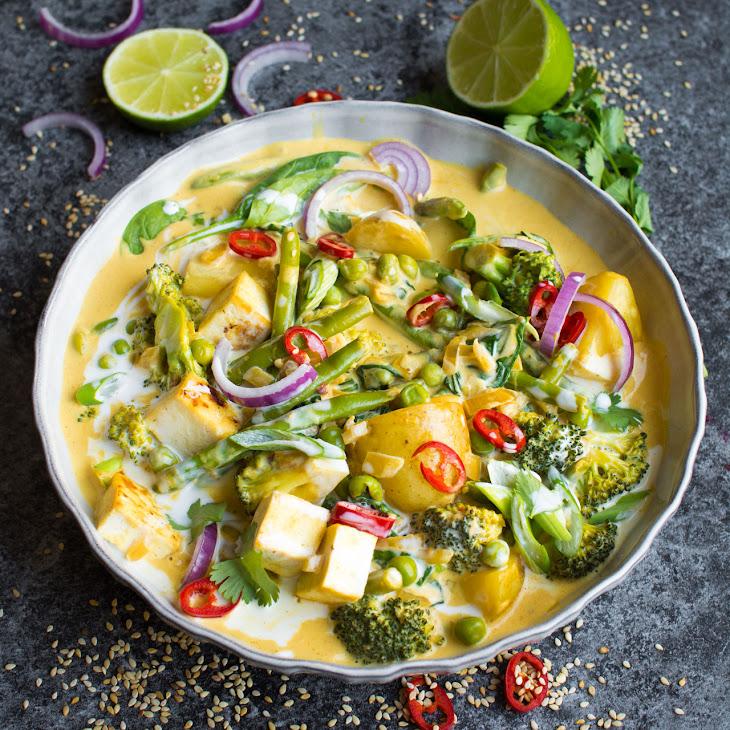 Vegan Red Thai Coconut Curry Recipe
