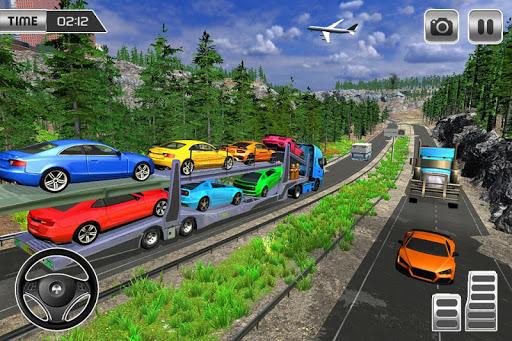 Heavy Car Carrier Truck Driving Simulator 2019 screenshots 3