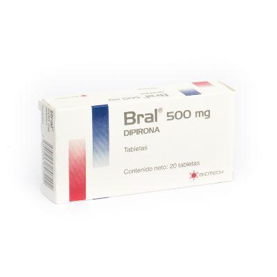 Dipirona Bral 500Mg 20Tabletas Biotech