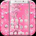 Pink Rose Diamond Theme icon