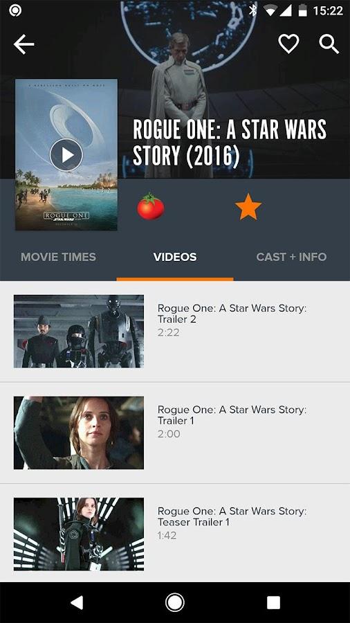 Screenshots of Fandango Movies for iPhone