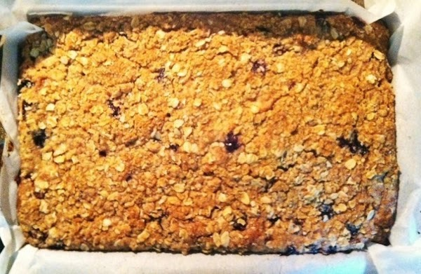Make topping: mix flour, brown sugar, cinnamon,nutmeg and oatmeal together. Cut 5 TBS of...